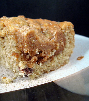 Peanut Butter Crumble Cake, closeup