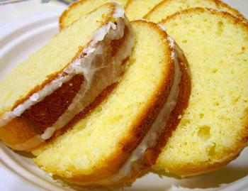 Sour Cream Pound Cake, sliced