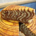 Zebra Cake slice, up close