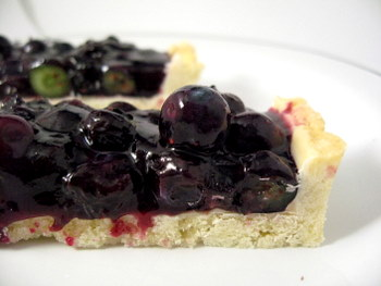 Blueberry Tart, sliced