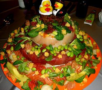 Sushi Wedding Cake