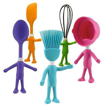 Kitchen on Head Chefs Kid   S Posable Silicone Kitchen Utensils