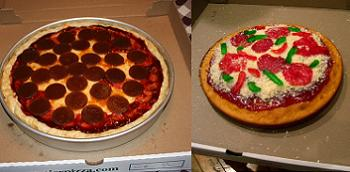 beautiful pizza look-a-like cake!