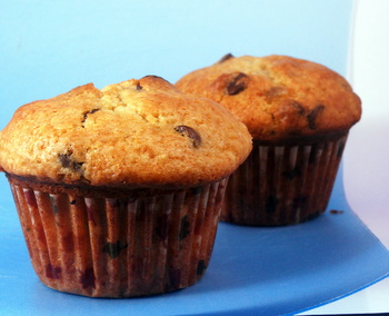 Chocolate Chip and Candied Ginger Muffins