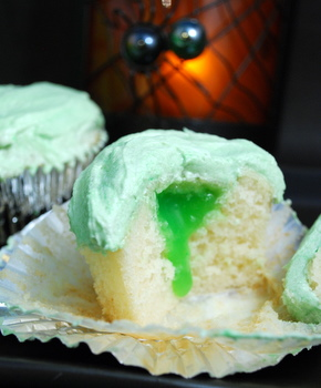 Slime-Filled Cupcakes from the Black Lagoon