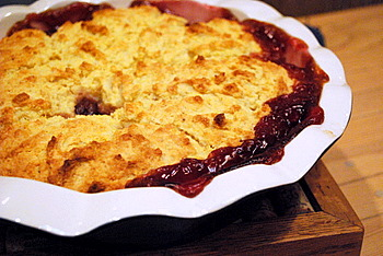Cherry Cornmeal Cobbler