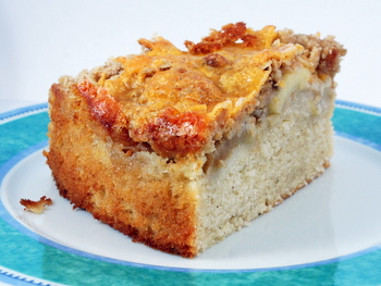Apple Pie Coffee Cake with Cheddar Cheese