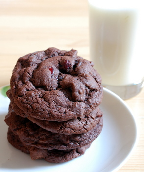 Orange Cranberry Double Chocolate Chip Cookies
