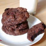 Orange Cranberry Double Chocolate Chip Cookies, innards
