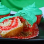 Candy Cane Christmas Cupcakes, innards
