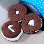 Mexican Hot Chocolate Linzer Cookies