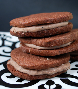 Mocha Sandwich Cookies Recipe — Dishmaps