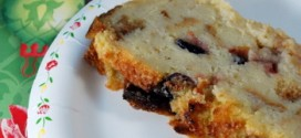 Eggnog Bread Pudding with Bourbon Cranberries