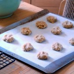Parchment paper with cookie dough