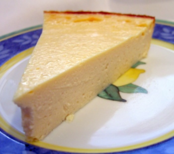 Baked Vegan Lemon Cheesecake slice