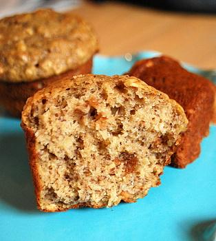 Banana Peanut Butter Oatmeal Muffins