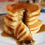 Brown Sugar Pancakes with Brown Sugar Maple Syrup