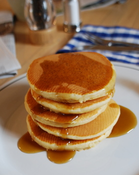 Brown Sugar Pancake stack
