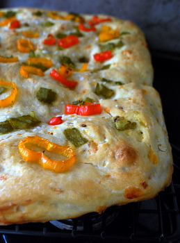 Pepper and Cheese Focaccia