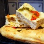 Pepper and Cheese Focaccia, slices
