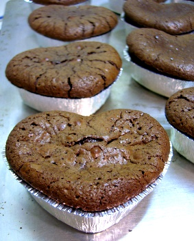 Heart-Shaped Chocolate Cakes