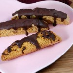 Chocolate Covered Strawberry Biscotti, plated