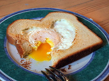 Valentine's Day Egg in Toast