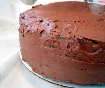 Yogurt Cake With Chocolate Ganache Frosting Recipes — Dishmaps