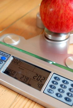 EatSmart Nutrition Scale, in use