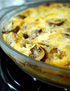 Sausage and Mushroom Crustless Quiche