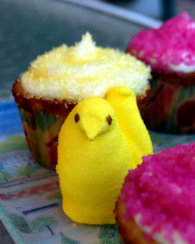 Peep and Peeps Cupcakes