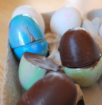 Peanut Butter-Filled Chocolate Easter Eggs