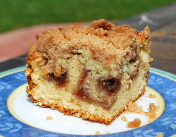 Strawberry Jam Crumb Coffee Cake