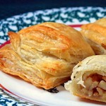 Puff pastry close up