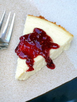 Vanilla Yogurt Cheesecake, from above