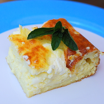 Cheesy Egg Casserole, slice