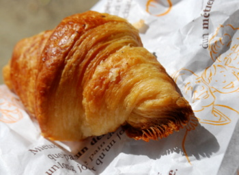 Croissant, laminated dough