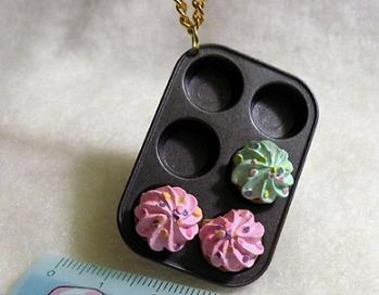 Cupcake Pan Necklace