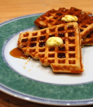 Honey Whole Wheat Waffles