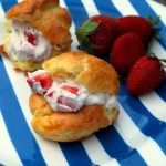 Strawberry Mascarpone Cream Puffs