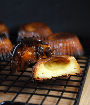 Homemade Canneles, innards