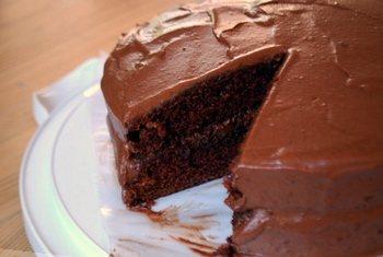 Applesauce Chocolate Layer Cake, the whole cake