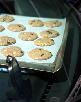 Car-Baked Oatmeal Chocolate Chip Cookies