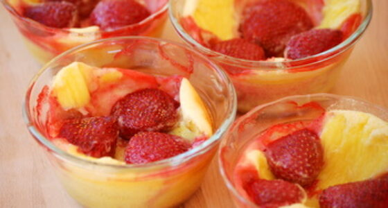 Individual Strawberry Clafoutis
