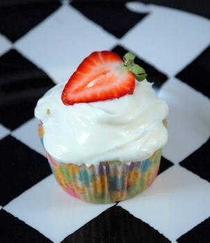 Strawberry Lemon Drop Cupcakes