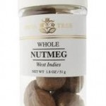 Whole nutmeg in jar