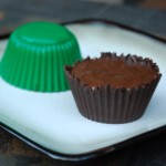 Homemade chocolate dessert cup