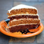 Pumpkin and Chocolate Layer Cake