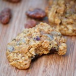 Sweet Potato Oatmeal Chocolate Chip Cookies, closeup