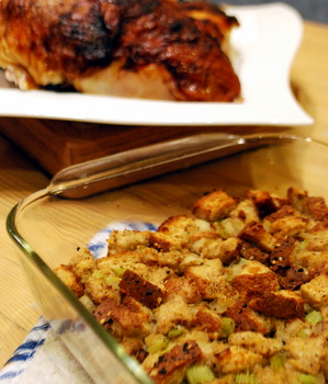 Roasted Garlic Stuffing
